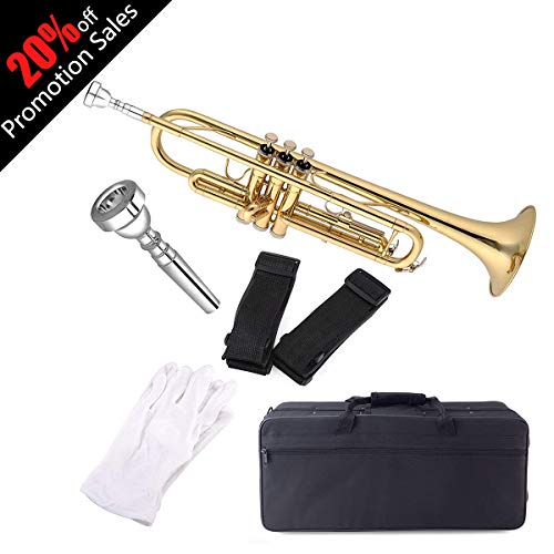 Aileen Lexington Gold Bb Key Student Model Trumpet Includes Hard
