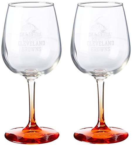 NFL Cleveland Browns Wine Glass, 12-ounce, 2-Pack