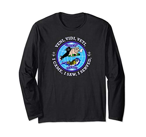 (USS BUFFALO SSN-715 PATCH IMAGE Long Sleeve T-Shirt)