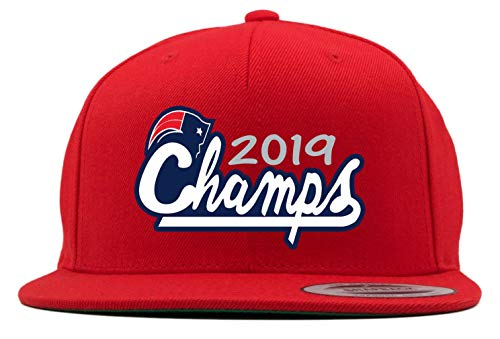 RED Snapback New England Brady 2019 Champs Hat