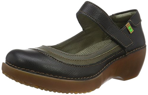 El Naturalista Damen NC78 Soft Grain Purple-Rioja-Tibet/ Tricot Mary Jane Halbschuhe Mehrfarbig (BLACK-KAKI-GRAFITO NV5)