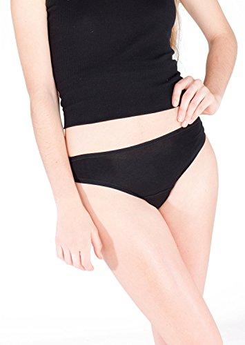 BFF Period Undies 'Best Period Panties' Classic Cut Bikini Brief, Black, Small