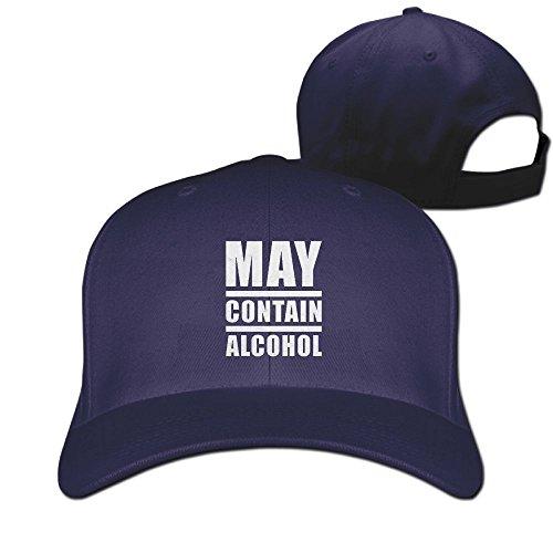 May Contain Alcohol Unisex Men's Cap Originals Low Profile Cotton Adjustable Dad Hat (Youth Mid Profile Camo Cap)