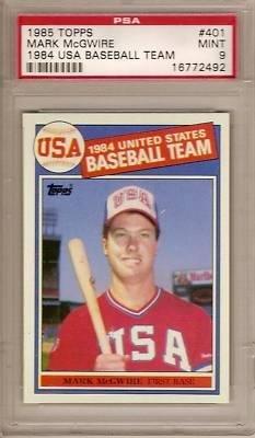 1985 Topps MARK McGWIRE # 401 (PSA 9) RC Rookie - MLB Bas...