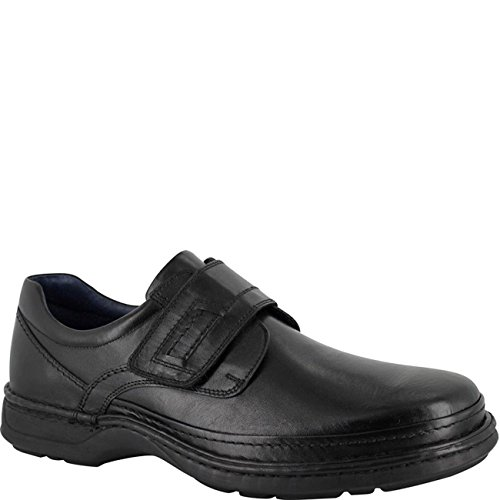 ambre Mens Paul Velcro Shoe Black Black