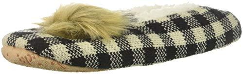 Keds Women's Check Slipper Socks, black, Shoe Size: 4-10