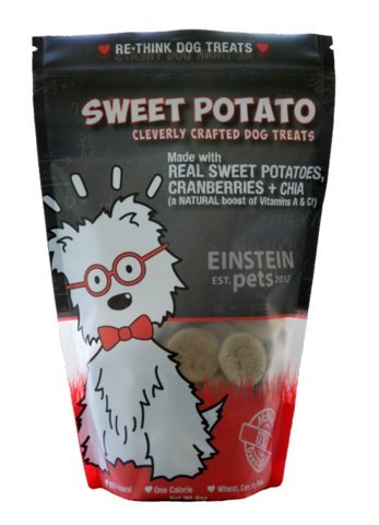 Image of Made in the USA Natural and Organic Low Calorie Dog Treats - Sweet Potato by Einstein Pets - 8 OZ