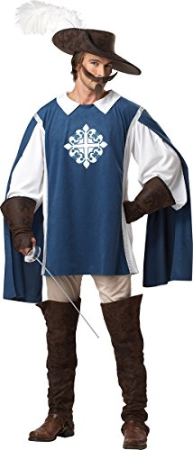 [California Costumes Musketeer Set, Blue/White, X-Large] (Adult Musketeer Costumes)