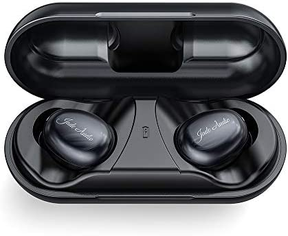 JadeAudio EW1 True Wireless HiFi Earbuds TWS Bluetooth V5.0 Headphones in-Ear with aptX AAC SBC Support Clear Calls with Noise Cancelling, Smart Touch, IPX5,21 Hours Playtime