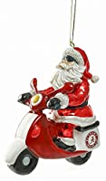Team Sports America Glass Alabama Santa Scooter Ornament
