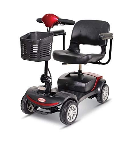 4 Wheel Power Scooter Culver Medical Mobility Disability Handicap Scout Compact Travel Power Scooter 12 mil (Red) from Culver