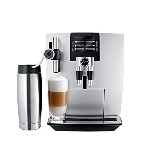 Jura 15075 Automatic Coffee Machine J90, Brilliant Silver