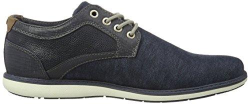 Mustang 4111-301-800, Zapatos de Cordones Derby para Hombre Azul (800 Dunkelblau)