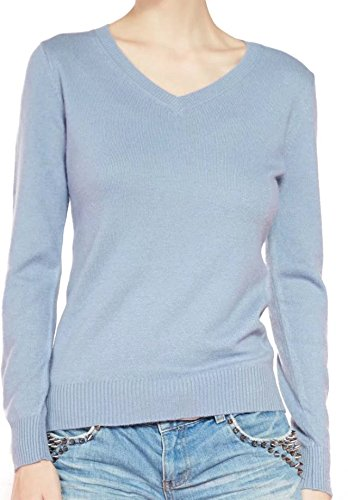 Liny Xin Women's V-Neck Sweater (Small, Golden) (Gold Cashmere V-neck Sweater)