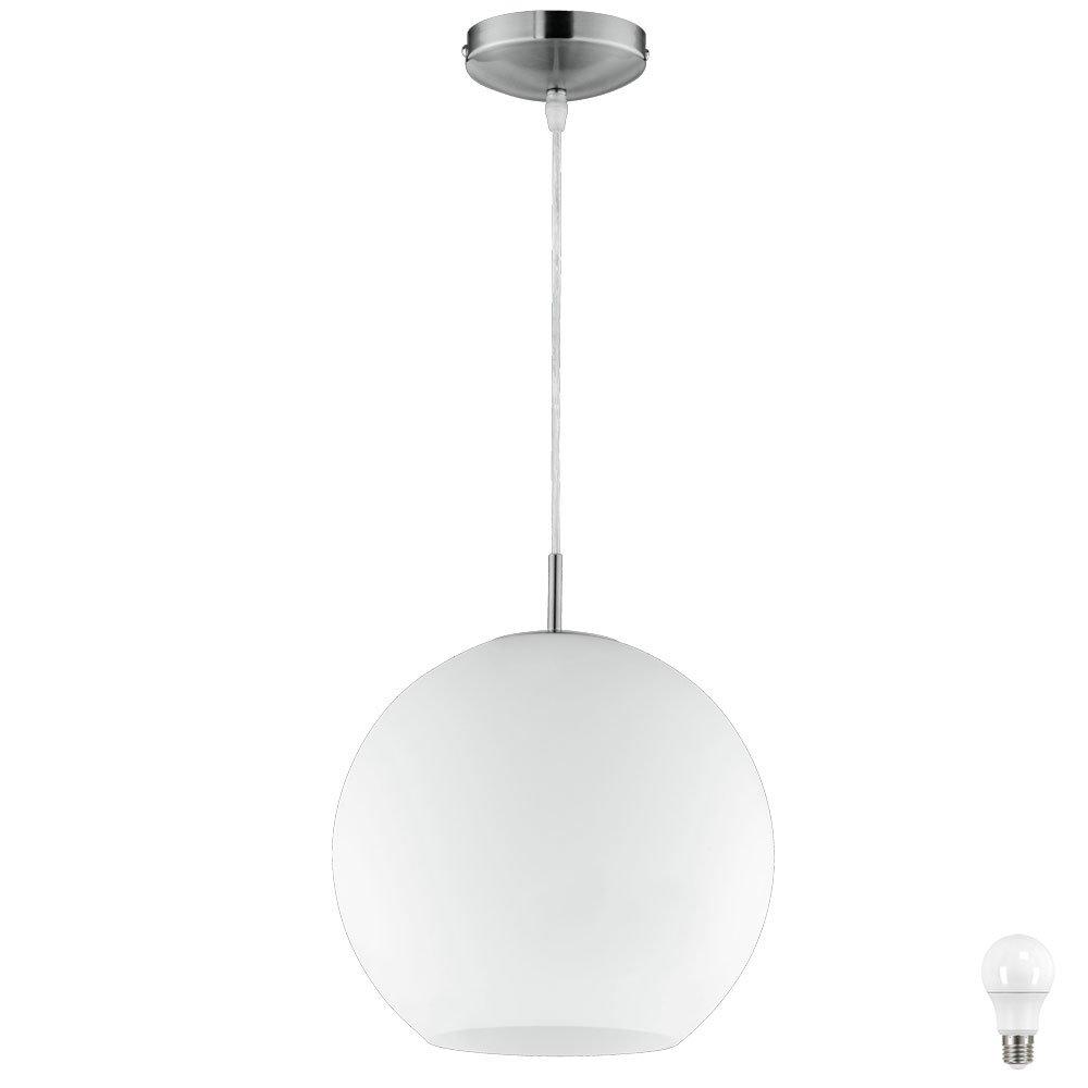 Design Pendel Decken Lampe Glas Kugel Esszimmer Hänge Leuchte EEK A+ im Set inkl. LED Leuchtmittel