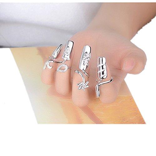 Hot Selling! Layhome Adjustable Women Girls Nail Ring Nail Decoration (4 ()