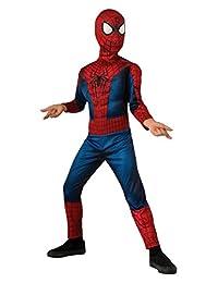 Rubies Costume The Amazing Spider-Man 2, Deluxe Spider-Man Costume, Child Medium