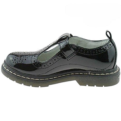 School UK Bar Patent DB01 26 LK8292 Lelli Black Meryl Kelly Brogue 8 T F Shoes Fitting cnz6xxw