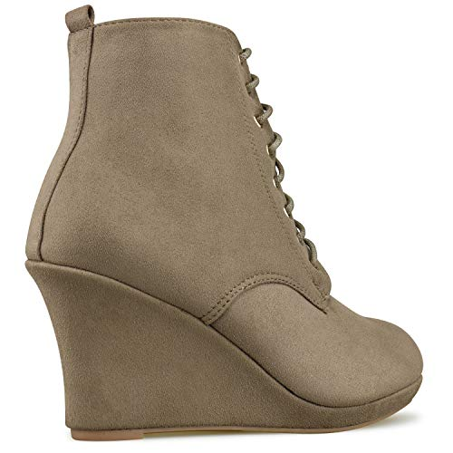Shoe Standard Walking Bootie Taupe Women's Premier Low Toe Side Closed Heel Ankle �c L Panel Casual Boot Elastic zHUUd6wq