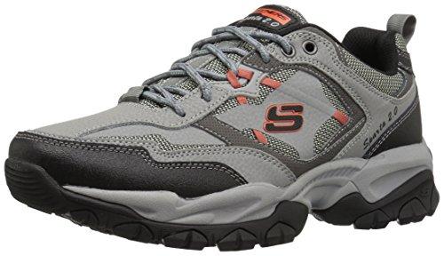 Skechers Sport Mens Sparta 2.0 Training Sneaker Gray/Orange
