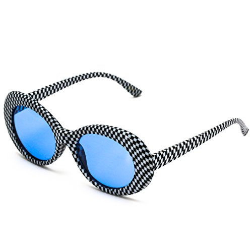 Checkered adulte mixte Glasses Elite Ovale Blue All 1qOtZXnZ