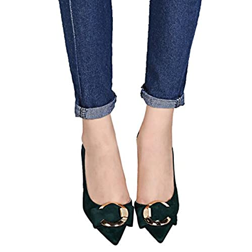 67e346d2 Tacones altos Zapatos De BIGTREE Mujer De punta estrecha Sandalias D'orsay Metal  Hebilla Stiletto