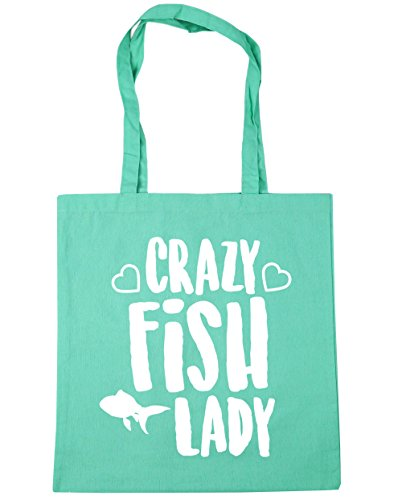 10 litres Gym x38cm lady 42cm Beach Mint fish Bag Crazy Shopping Tote HippoWarehouse UqwPHvCx