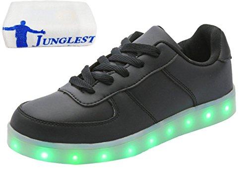 (Presente:pequeña toalla)JUNGLEST USB Carga de la Zapatilla Zapatillas de Deporte Con 7 Colores de Iluminación LED Intermitente Para los Amantes de N c38