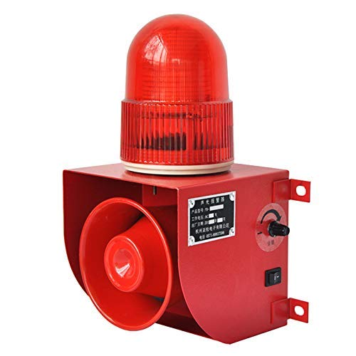 YS-1501 AC110V Industrial Power Off Reminder Alarm Sirens 120dB Horn Alarm System with Strobe Light