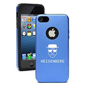 Apple iPhone 5 5S Blue 5D4079 Aluminum & Silicone Case Cover Heisenberg