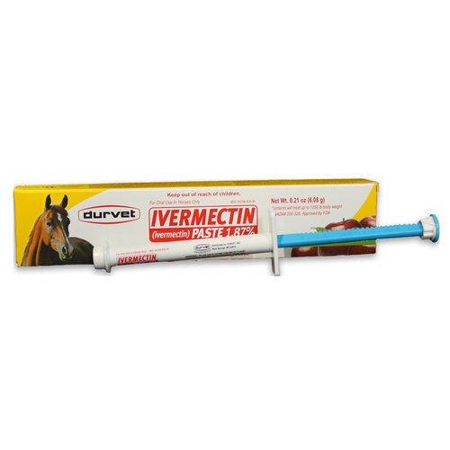 Duramectin Ivermectin Horse Wormer Dewormer Apple Flavor Each Syringe Contains 0.26 Oz