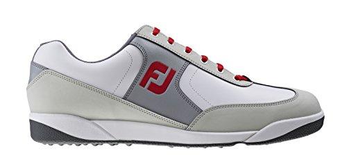 FootJoy AWD XL CASUAL Herren M Weiß + Hellgrau + Rot White + Light Grey + Red