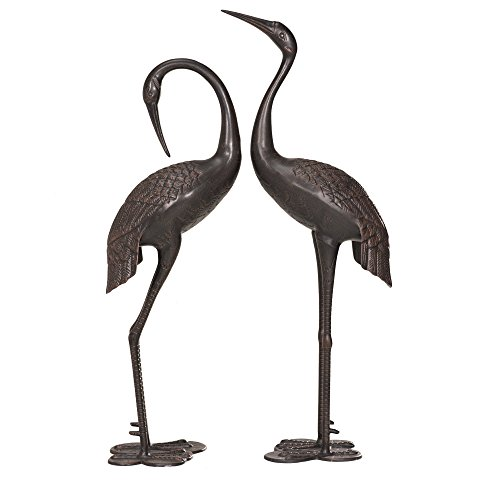 Sunjoy 43 Inch Sculptured Cranes in Bronze Finish
