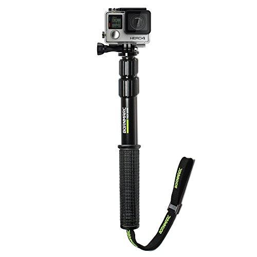 bornmarc pov pole 11 26 aluminum waterproof extension pole selfie stick for gopro hero 4. Black Bedroom Furniture Sets. Home Design Ideas