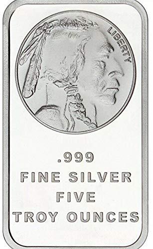 American Buffalo by SilverTowne 5 oz .999 Fine Silver - Ounce Bar 5