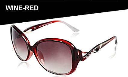 d790ad7a4c6 Image Unavailable. Image not available for. Colour  Shopystore Wine Red  Women39S Glasses Female Famous Brand ...