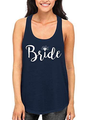 SpiritForged Apparel Diamond Bride Women's Racerback Tank Top, Navy Medium