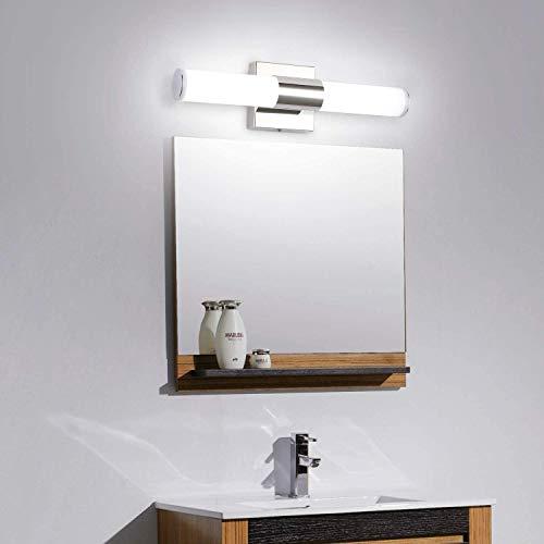 LED Vanity Lights,JoosenHouse Modern Stainless Steel Bathroom Wall Sconce Light Fixtures 560lm Daylight Bath Makeup Mirror Lighting (8W 15.7inch)