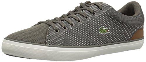 Lacoste Men's Lerond Sneaker, Khaki Tan Canvas, 9 Medium (Khaki Canvas Footwear)