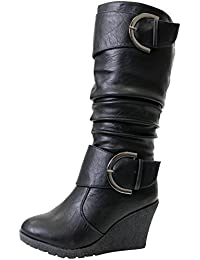 Pure 65 Womens Slouch Wedge Boots