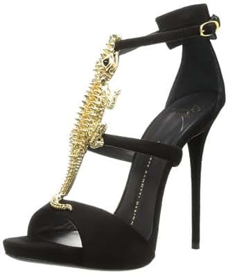Giuseppe Zanotti Women's Alligator Dress Sandal,Nero,12 B US