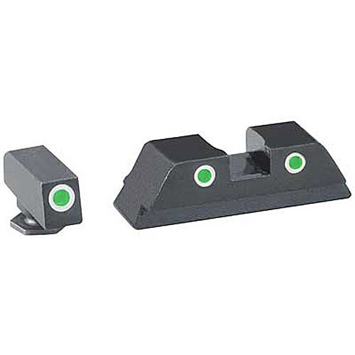 Ameriglo 3 Dot Tritium For Glock 17/19/22 (Best Replacement Sights For Glock 19)