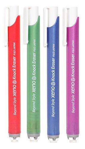 Xeno Knock Retractable Click Eraser, Assorted