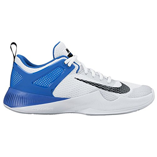 Womens Nike Air Zoom Hyperace Volleyball Shoes White/Black/Game Royal Size 8 M US