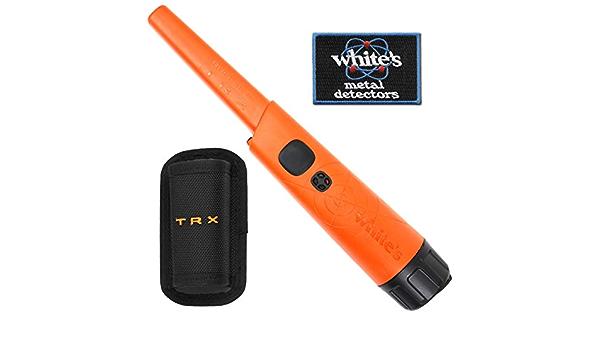 WHITES ELECTRONICS Whites Bullseye TRX Pinpointer - Puntero con Funda y Parche para Planchar, Color Naranja