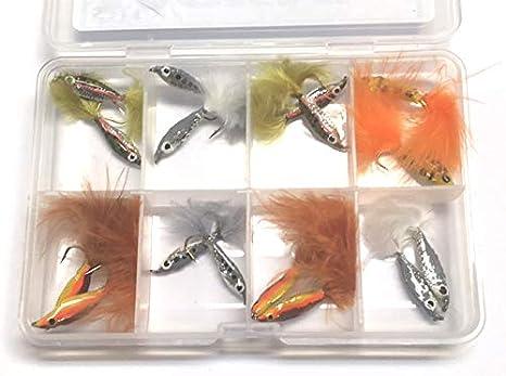 BestCity Moscas para Pesca con Mosca EPOXY Minnows 16 Moscas para truchas suministradas con Caja de Cierre de Clip Gratis #340: Amazon.es: Deportes y aire libre