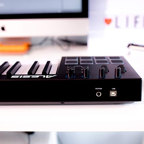 Alesis V49 | 49 Key USB MIDI Keyboard Controller with 8 Backlit Pads, 4 Assignable Knobs and Buttons, Plus a…