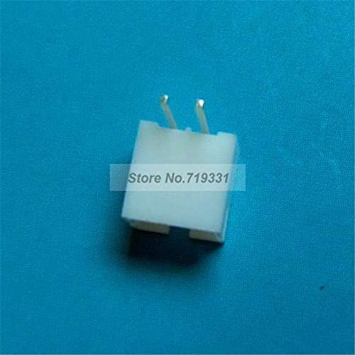 100 pcs PH 2.0mm 2-Pin Right-Angle JST Socket Male Connector Nathan-Ng