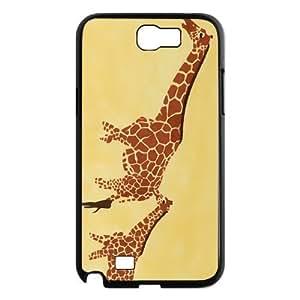 Custom Giraffe Design Plastic Case for Samsung Galaxy Note 2