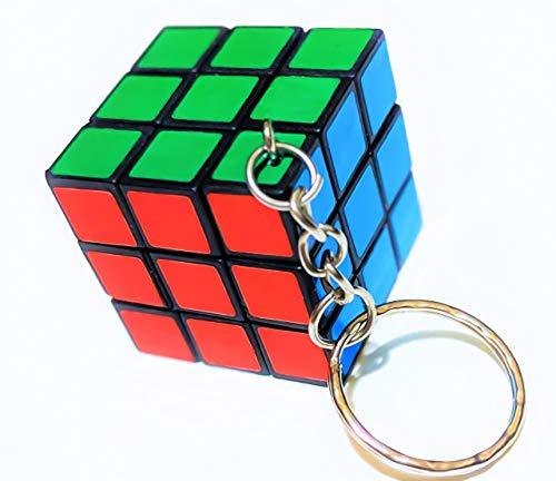 - Mini Puzzle Rubic Cube Keyring 3x3 Magic Pink Toy Original Turn Twist Girl Boy Retro 80s Fancy Dress Keychain